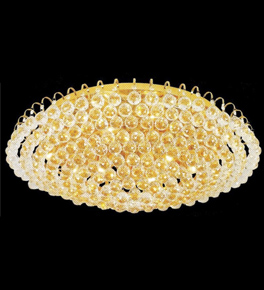 Surface mounted 18 light circle crystals chandelier