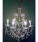 19th Century Pristine Crystal Drop 6 Light Chandelier.