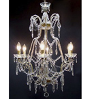 Pristine Crystal Drop 6 Light Chandelier.
