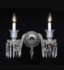 Double Arm Wall Light With Crystal Spear Drops