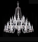 48 Light Crystal Baccarat Style Chandelier