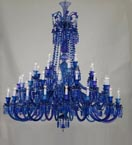 48 Light Blue Tones Chandelier
