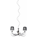 Pavone Design 2 Arm Metal Framed Chandelier