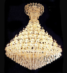 Tiered crystal drop 108 light chandelier