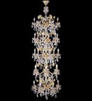 Crystal Stairwell Floral Chandelier